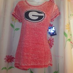 Officially collegiate GA tee For all you UGA fans. Supper soft GA tee. Made to look worn.could fit med fine. Blue 84 Tops Tees - Short Sleeve
