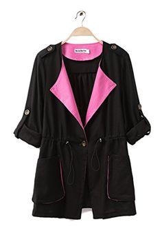 Women's Jacket Drawstring Cotton & Linen Long Sleeve Trench Coat Plus Size J818(Black,X-Large) Wantdo Women Autumn http://smile.amazon.com/dp/B00MXYP06U/ref=cm_sw_r_pi_dp_5BQDub1GJ0KYZ