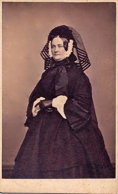 Rhode Island Widow, Albumen Carte de Visite, Circa 1863                        by  lisby1