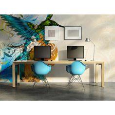 El pájaro melodioso encajará bien en el interior dominado por el color beige. Fotomural de color perfectamente aplomado lleva a todos en un estado de ánimo feliz :) #fotomural #fotomurales #pajaro #colorido #alegria #artgeist