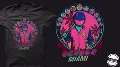 """Inspired by *Hotline Miami* Tshirt """"Deadly Miami"""" Up for scoring on Qwertee : http://www.qwertee.com/product/deadly-miami/ Hotline Miami #hotlinemiami #drive"""