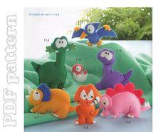 Item Name 7 Dinosaurs Felt Plush Mascot Sewing Pattern PDF Price $3.90 Description This high ...