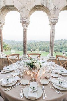 mariage laïque sur une terrasse avec belle vue