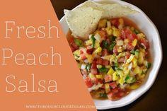 Fresh Peach Salsa - Through Clouded Glass