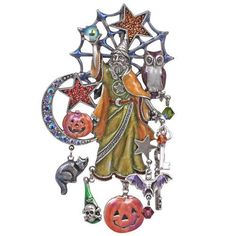 NEW KIRKS FOLLY MAGIC OF HALLOWEEN WIZARD PIN/PENDANT  #KirksFolly