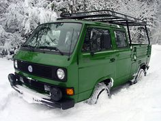 Transporter Syncro in the snow  Photo by Craig Spaeth