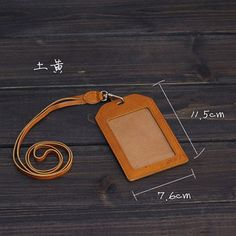 Handmade leather ID card holder: