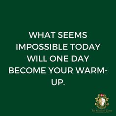What seems impossible today will one day become your warm up.. #motivation #fitness #gym #fit #love #workout #fitnessmotivation #training #inspiration #lifestyle #training #health #inspiration #motivationalquote #inspirationalquote #positivevibes #healthy #train #fitnessjourney #motivationalmonday #exercise #freedom #happy #weightloss #personaltrainer  #Regram via @richemontclinic Monday Motivation, Fitness Motivation, Motivational Quotes, Inspirational Quotes, One Day, Personal Trainer, Positive Vibes, Instagram Feed, Clinic