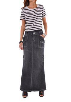 Flatter Me Cargo Denim Skirt # RE-0572
