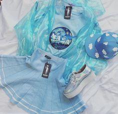 Kokopieshop aesthetic blue fashion