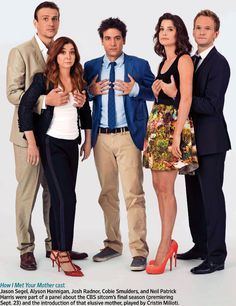 Sometimes you fall for someone you'd never expect. How I Met Your Mother cast! Series Movies, Movies And Tv Shows, Tv Series, Josh Radnor, Avalon High, Marshall Eriksen, How Met Your Mother, Robin Scherbatsky, Ted Mosby