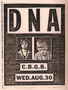 post-punker: Flyer for DNA gig at CBGB's, New York City