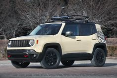 Jeep Renegade Desert Hawk is based on the Jeep Renegade, the newest Jeep SUV. The Desert Hawk was built for the ultimate desert adventure and is equipped with a selection of Mopar and Jeep Performance Parts.