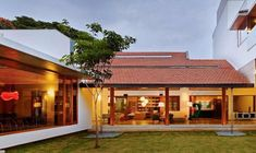 Imposing Library House in India Evoking Bangalore's Colonial Past