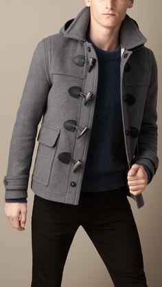 fabb4d70c154 Wool Duffle Jacket   Burberry Duffle Coat, Burberry Men, Fashion Catalogue,  Men s Jackets