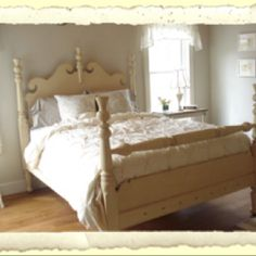 If we can't find wrought iron, let's look at getting a used wooden bed frame and painting it.