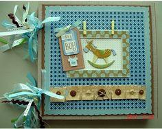 Scrapbooking by Phyllis: Baby Boy Chipboard Album