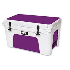 MightySkins Protective Vinyl Skin Decal for YETI Tundra 45 qt Cooler wrap cover sticker skins Solid Purple ** You can find more details by visiting the image link.