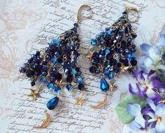 RESERVED Starry Starry Night Swarovski Crystal by MockiDesigns, $149.00