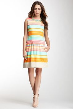 Stripe Sleeveless Dress on HauteLook