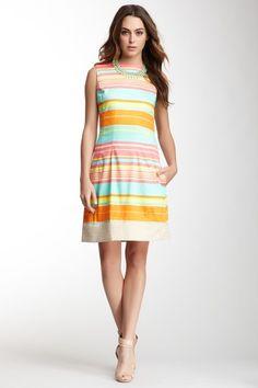 Stripe Sleeveless Dress on HauteLook