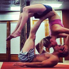 Yoga kiss?