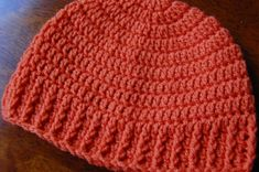 Men's Free Crochet Hat Pattern. Explanations for FPDC and FPSC stitches used in the ribbing.