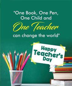Happy Teachers Day, Teachers' Day, Change The World, Books, Libros, Book, Book Illustrations, Libri