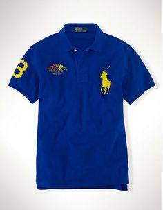 Polokey Classic-Fit Big Pony Flag Polo Blue 2013PRL17 Polo Ralph Lauren,  Ralph Luaren d1055cbb7eb