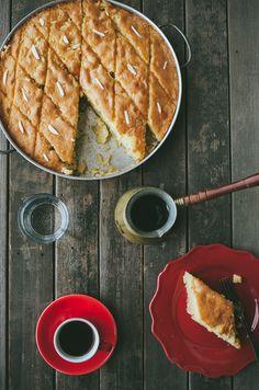 Turkish Revani Cake with Turkish coffee...