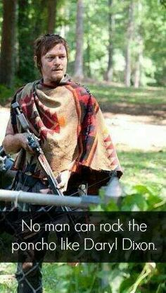 Daryl and the poncho