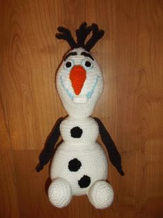 Olaf the FROZEN snowman amigurumi crochet pattern Crochet Olaf, Frozen Crochet, Crochet Snowman, Crochet Disney, Crochet Patterns Amigurumi, Cute Crochet, Crochet Toys, Knitting Patterns, Frozen Snowman
