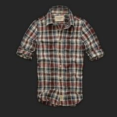 Abercrombie and Fitch Shirt For Mens Blank and Red