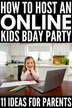 If you're trying to figure out how to host a virtual birthday party for kids, we've got 11 ideas to make this a birthday your child will never forget! Birthday Party Games For Kids, 10th Birthday Parties, Kids Party Themes, Party Activities, Birthday Party Themes, Birthday Activities, Party Ideas, 8th Birthday, Birthday Ideas