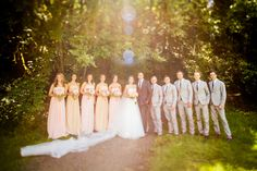 portland wedding bridal party by Dina Chmut Photography