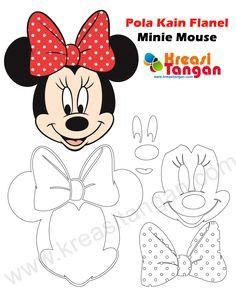 Pola Kain Flanel Minnie Mouse