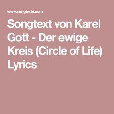 Songtext von Karel Gott - Der ewige Kreis (Circle of Life) Lyrics