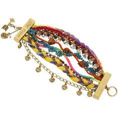 Betsey Johnson St Barts Multi Row Toggle Bracelet
