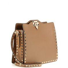 Studded Leather Shoulder Bag ∇ Valentino » mytheresa