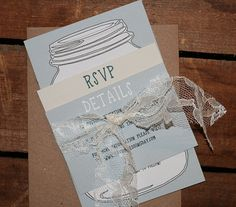 Rustic Mason Jar DIY Printable 3 Piece Wedding by howlcreativeco, $40.00