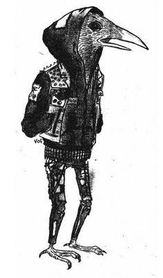 Punk Rock Raven