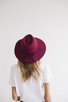 Description: The Eve is most popular of the polyester knit selection. It has a wide semi-floppy brim and a braided suede trim. This one-size-fits-most hat is available in several different colors and