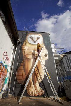 Street Art by Lonac in Zagreb, Croatia