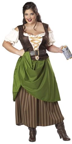 Adult Plus Size Tavern Maiden Costume