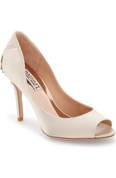 Badgley Mischka 'Cali' Peep Toe Pump (Women) available at #Nordstrom