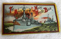 This listing is for a vintage needle package or book dating from WWI featuring Superior SKS Sharps and reading on the cover The Army and Navy