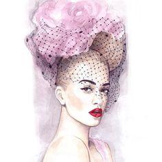 «#fashion #illustration #fashionillustration #fashionillustrator #artist #artwork  #instafashion #instaart #instaartwork #watercolor #portrait #elle…»
