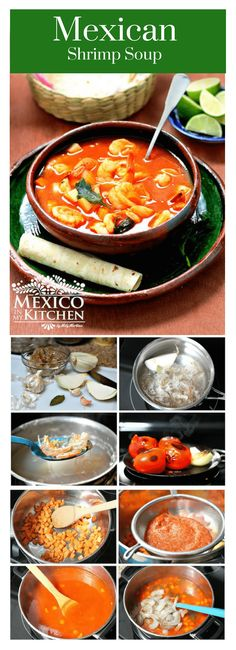 Mexican shrimp soup │Growing up, I always thought that everyone ate their shrimp soup with corn masa because that's the way my mom made it, but when visiting friends and classmates at their houses (usually around lunchtime), I learned that there were other ways to prepare shrimp soup.#mexicanrecipes #mexicanfood #mexicancuisine #camarones