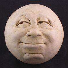 Etsy Transaction - Man-in-the-Moon Garden Head, Antique White/eggshell