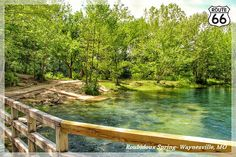 Roubidoux Spring at Laughlin Park in Waynesville, Missouri